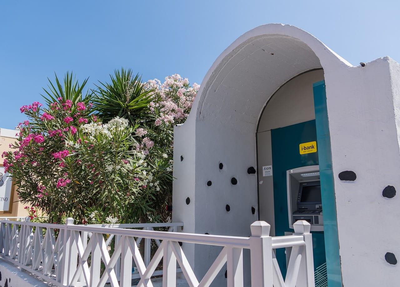 An ATM in Santorini