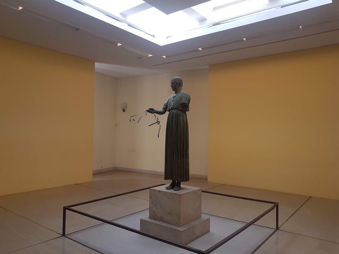 The Charioteer in Delphi museum