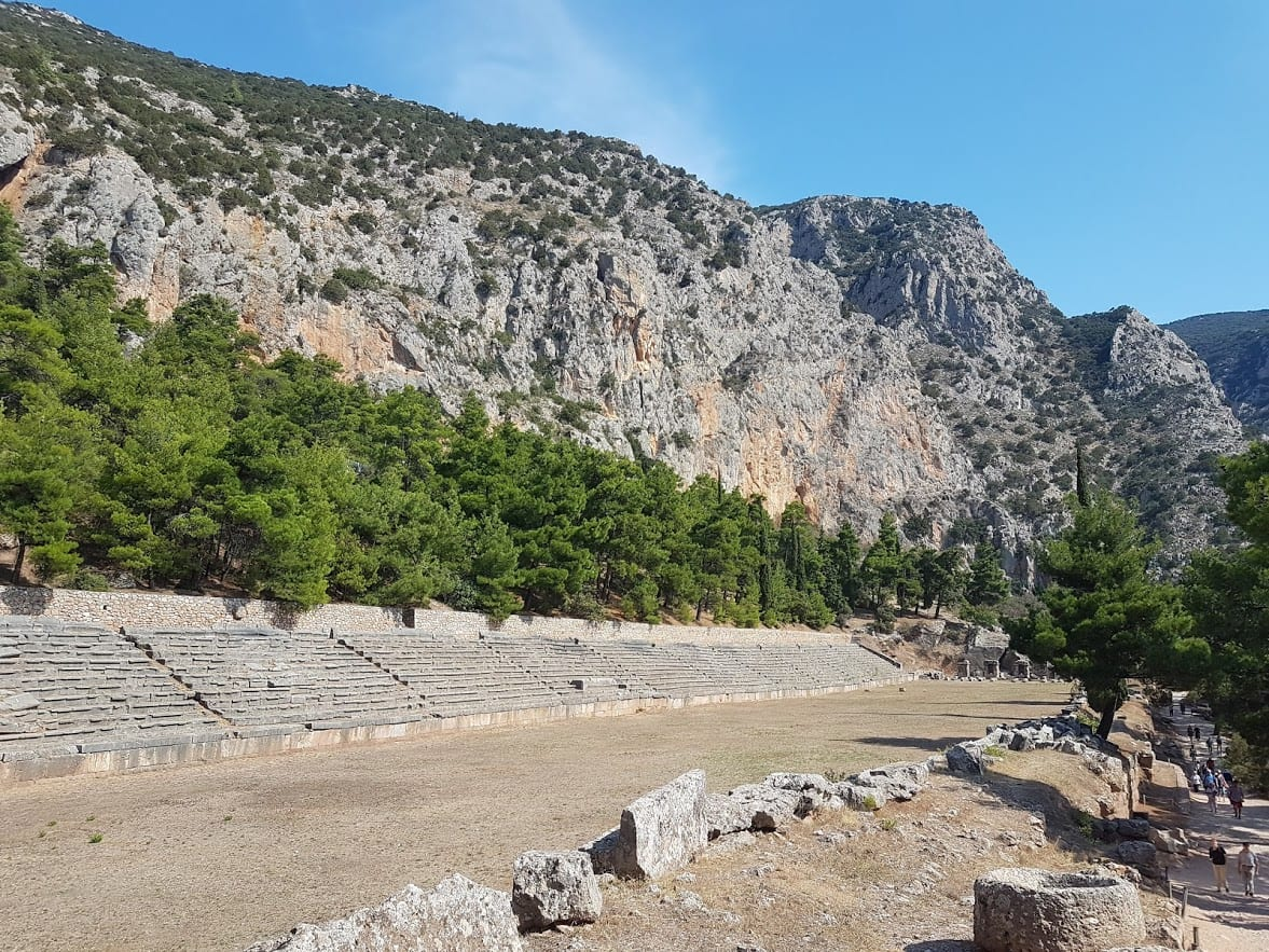 The stadium at Delphi where races took place in the atheletic games