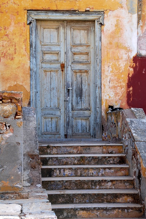 A doorway on the Greek island of Hydra
