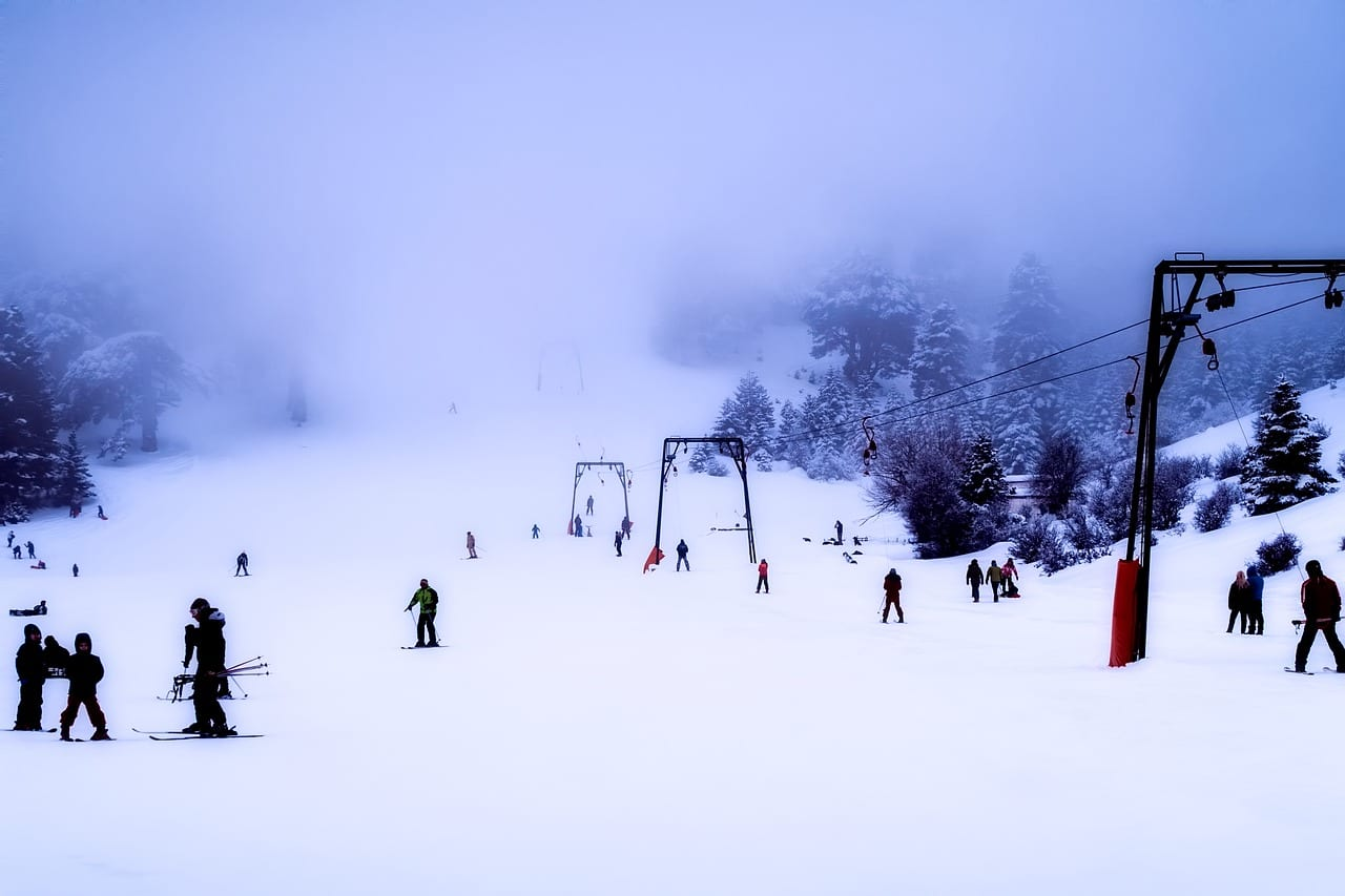 The best time of year to visit Greece for skiing is between December and April