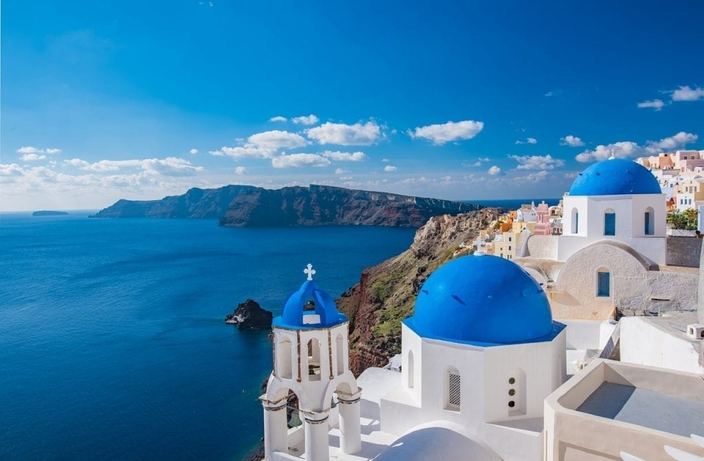 Santorini is a good Greek island to visit for first time visitors