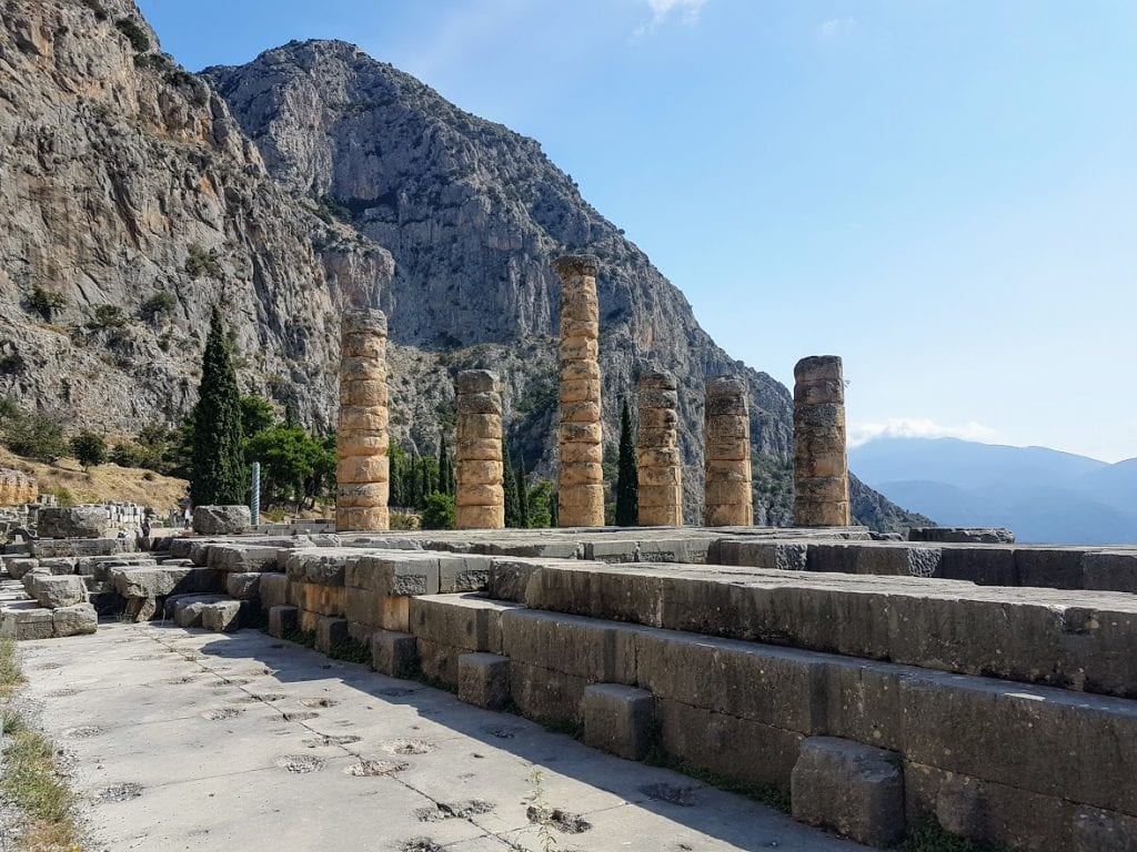 Visit the Temple of Apollo during a Delphi day trip from Athens