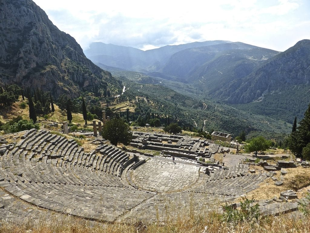 The theatre at Delphi in Greece