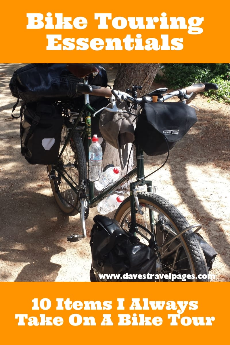 Bike Touring Essentials - 10 Items I Always Take On A Bike Tour