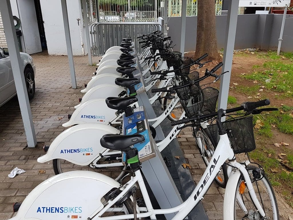 The Athens bike share scheme is in Technopolis in Athens