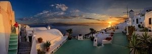 Santorini sunset views from the best hotels