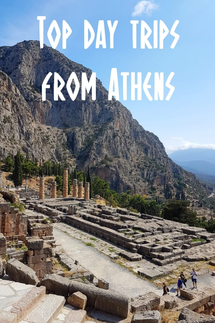 The top day trips from Athens include trips to Delphi, The Temnple of Poseidon at SOunion, the Greek island of Hydra, Meteora and more.