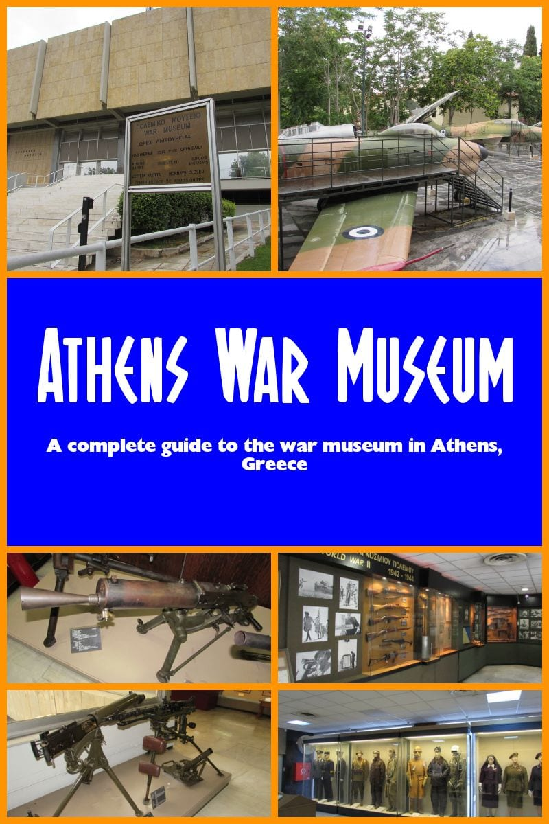 Athens Greece: A complete visitor's guide to the Athens War Museum. Athens War Museum opening hours and visitor information.