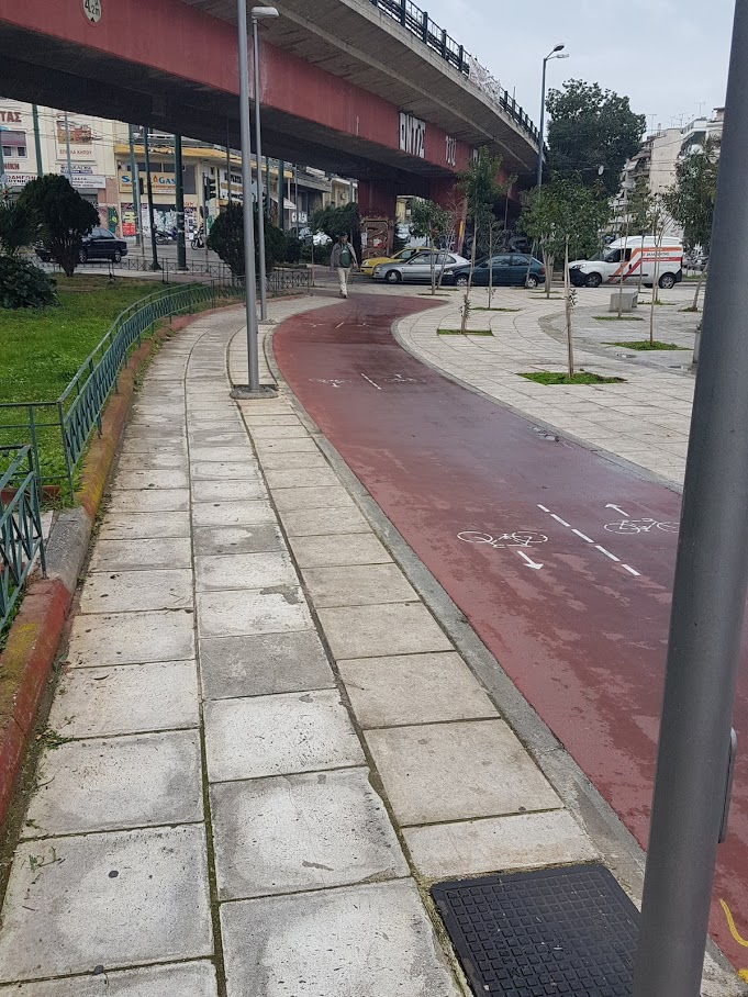 The bike path in Athens, which leads from Technopolis to Faliro on the coast