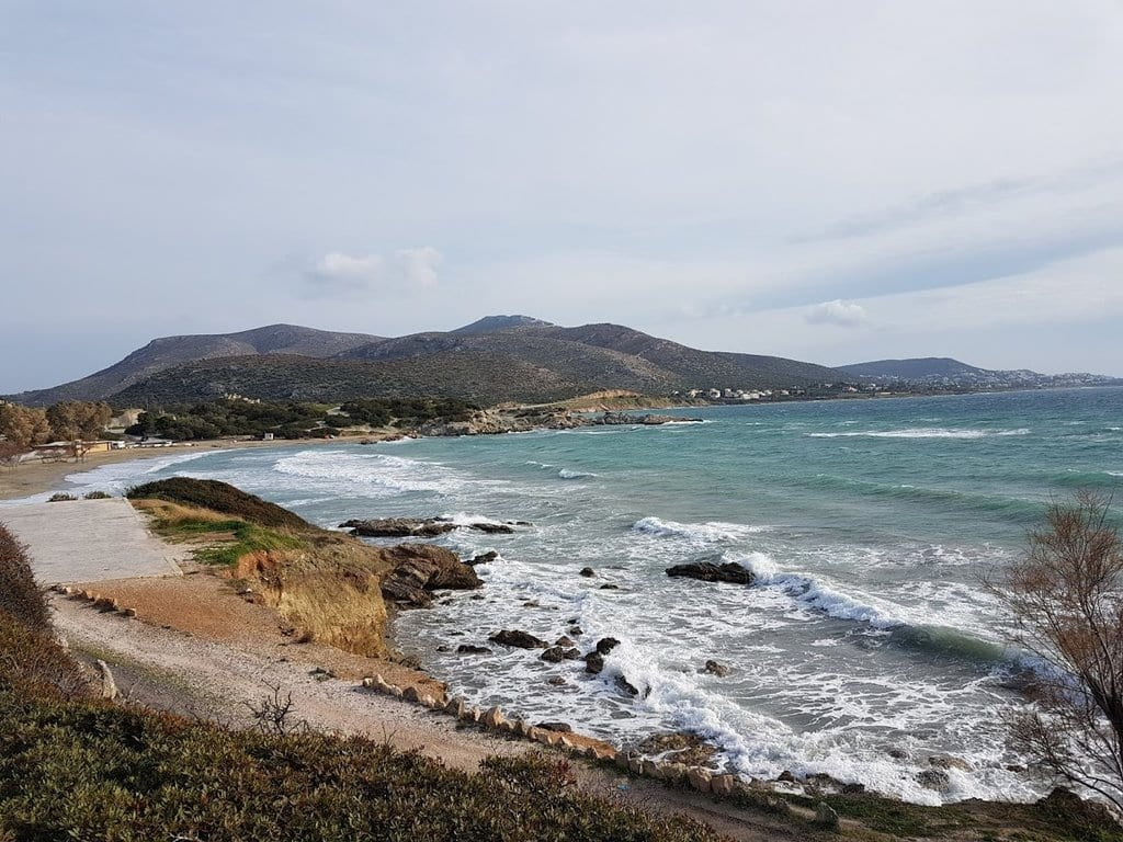 The coastline near Sounion
