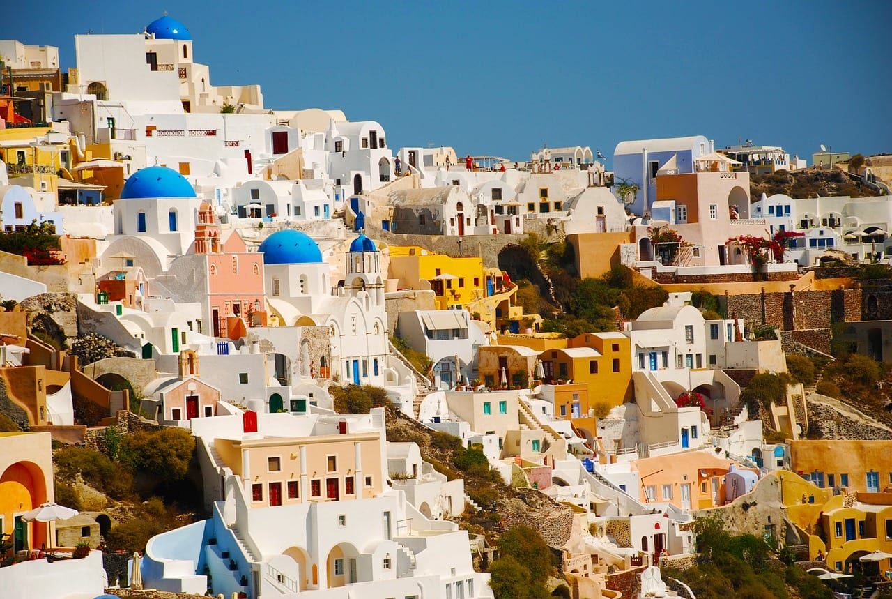 March is a pretty good month to visit Santorini. The weather warms up nicely, and the tourists are still few in number.