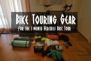 Bike touring gear list for the Hercules bike tour