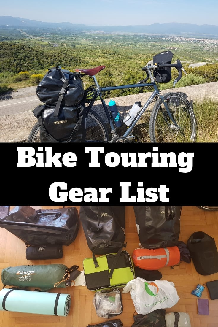 My bike touring gear list for cycling around the Peloponnese in Greece