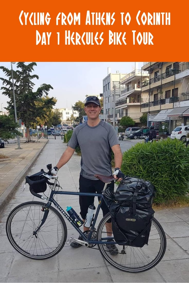 Bike Tours: Cycling from Athens to Corinth. The first day of my Labours of Hercules bike tour of the Peloponnese in Greece.