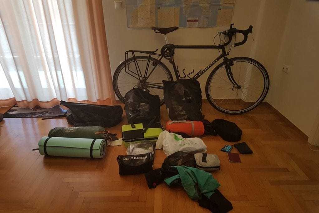 My bike touring gear for cycling around the Peloponnese in Greece