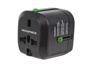 Monoprice universal travel adapter