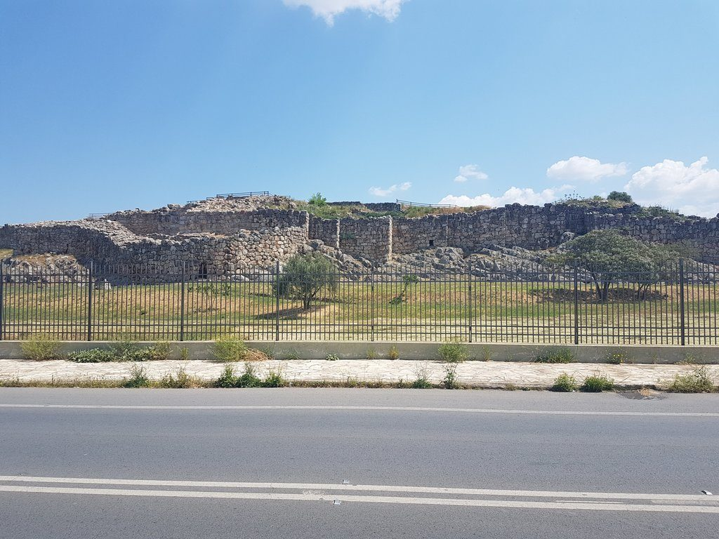 The walls of the ancient city of Tiryns in Greece