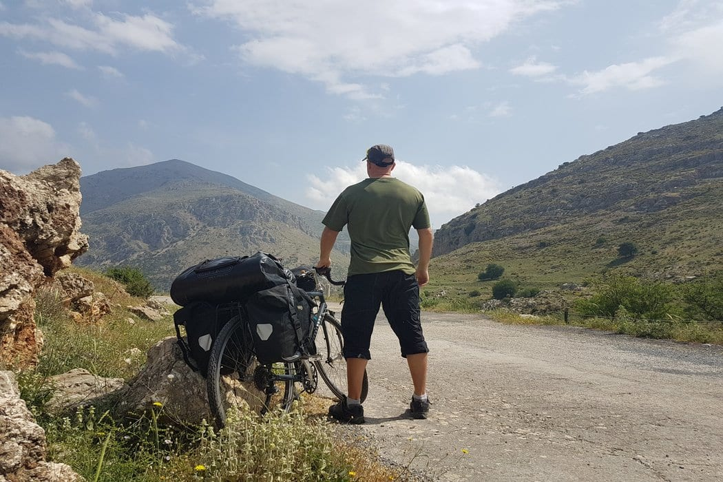Dave Briggs adventure cyclists - ready to travel the Peloponnese in Greece by bike!