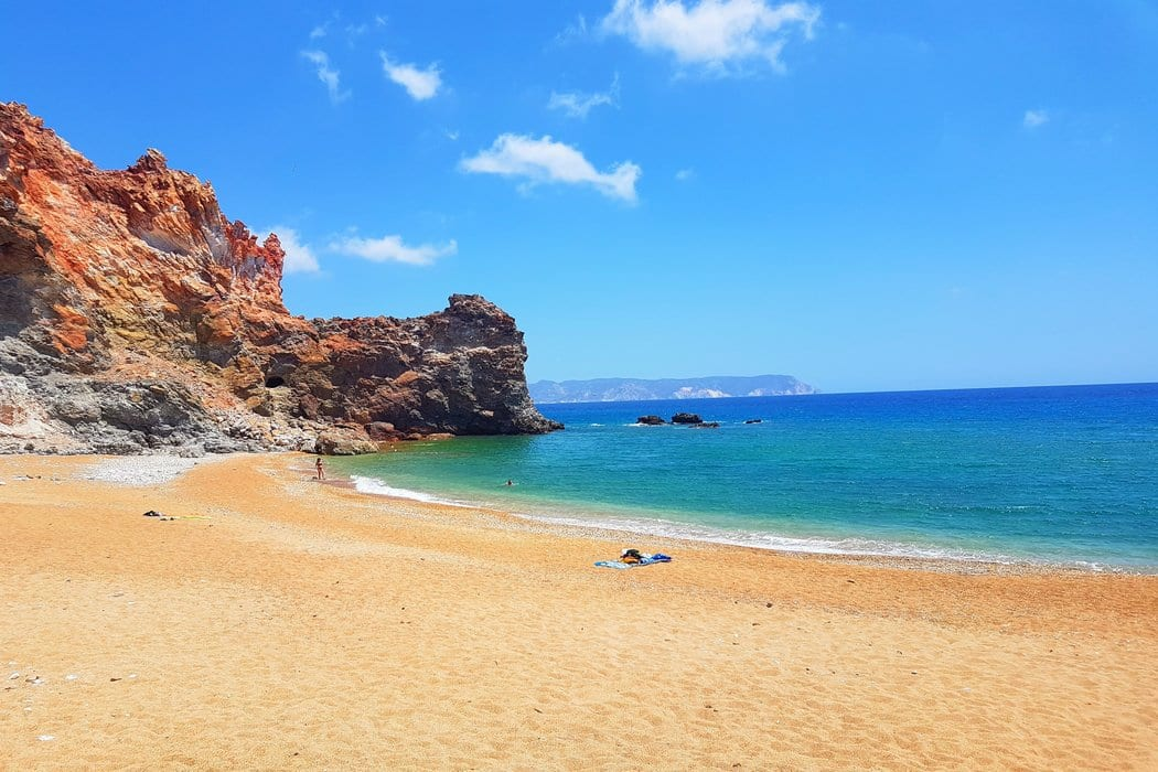 Visiting the beaches in Milos is one of the many things you can do during your Greek island vacation.