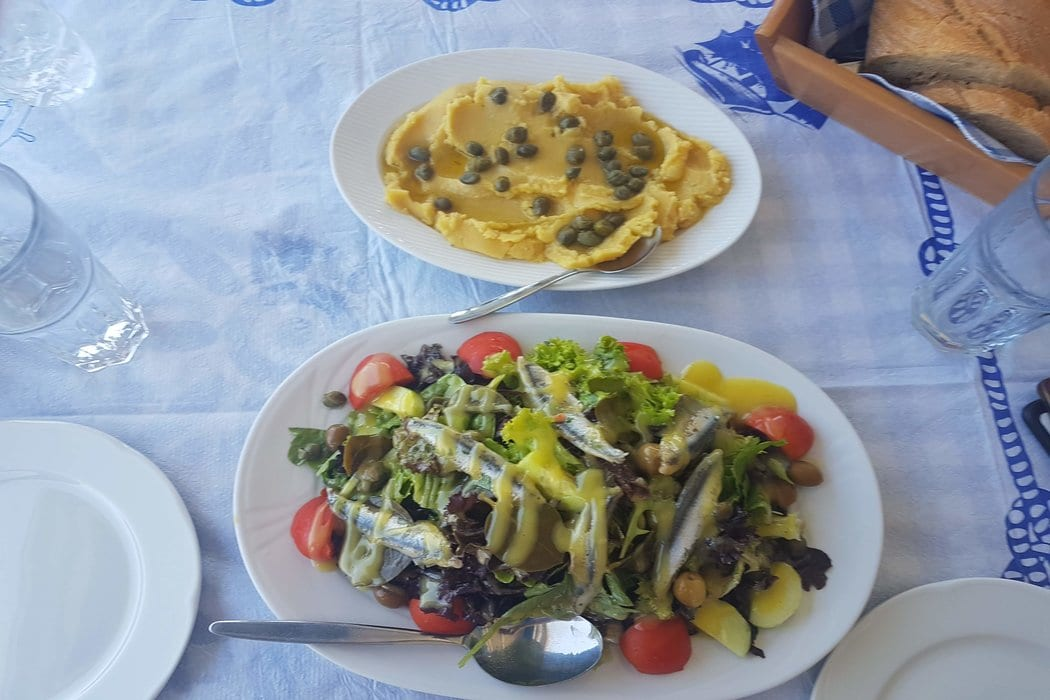 Traditional Greek food in Milos is tasty and filling. Make sure to try a dish or two during your Milos holidays!