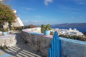 The view out over Plaka in Milos.