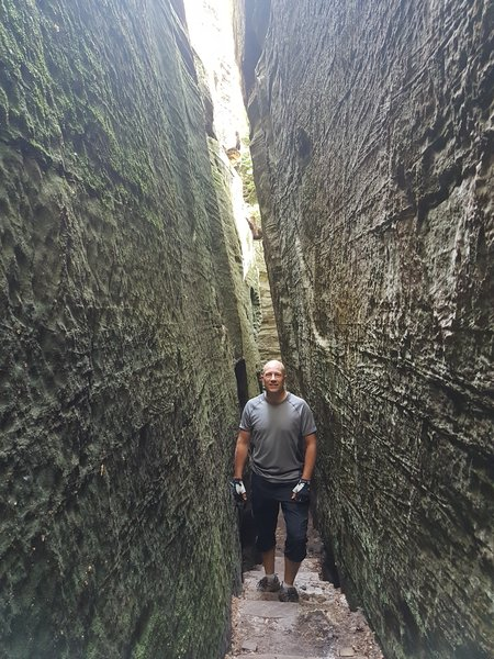 Dave Briggs experiencing outdoor adventure in Luxembourg