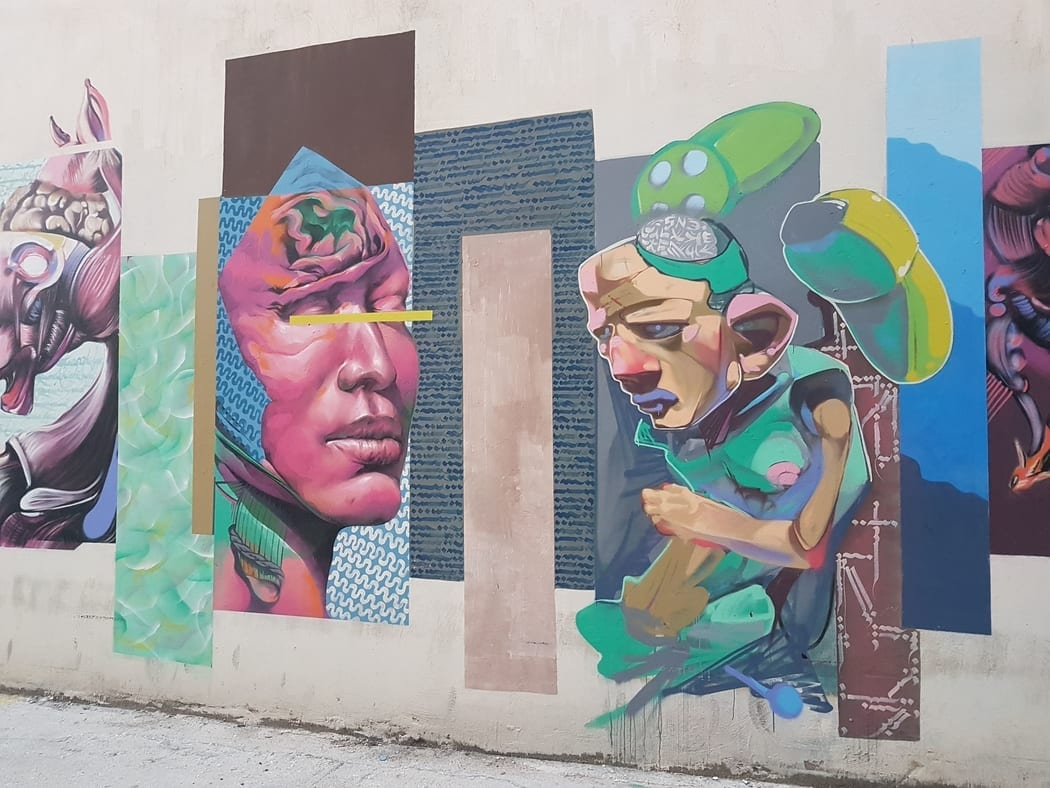Just some of the awesome street art to be found in Patras