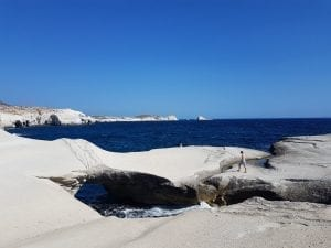 Sarakiniko beach on Milos is often described as one of the most beautiful beaches in Greece. Is it the best beach in Milos to spend your time on though? This guide will help your draw your own conclusions.