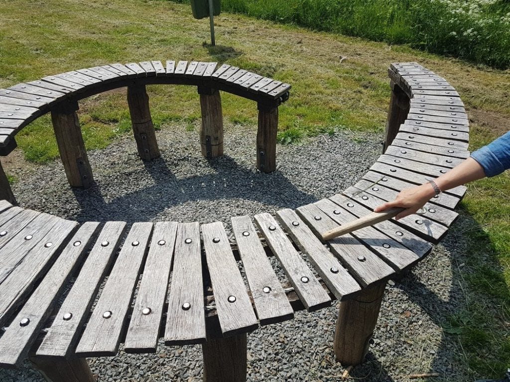 A curious xylophone tucked away on the Escapardenne Lee Trail in Luxembourg.