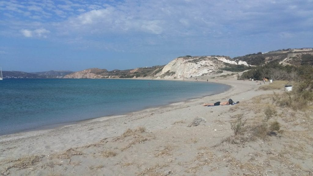 Achivadolimni Beach, Milos - The longest sandy beach on the island of Milos