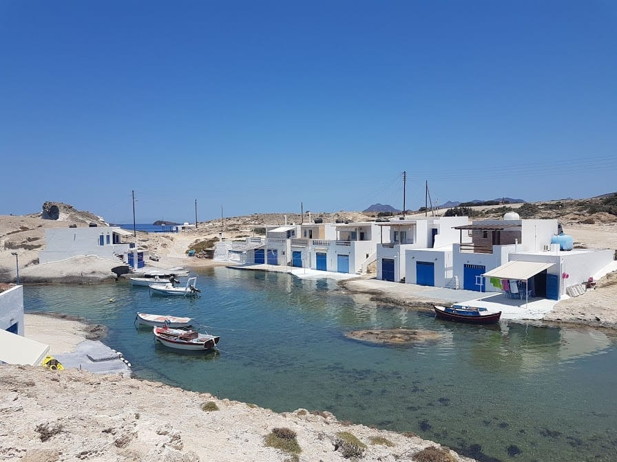 The Agios Konstantinos fishing village in the Greek island of Milos