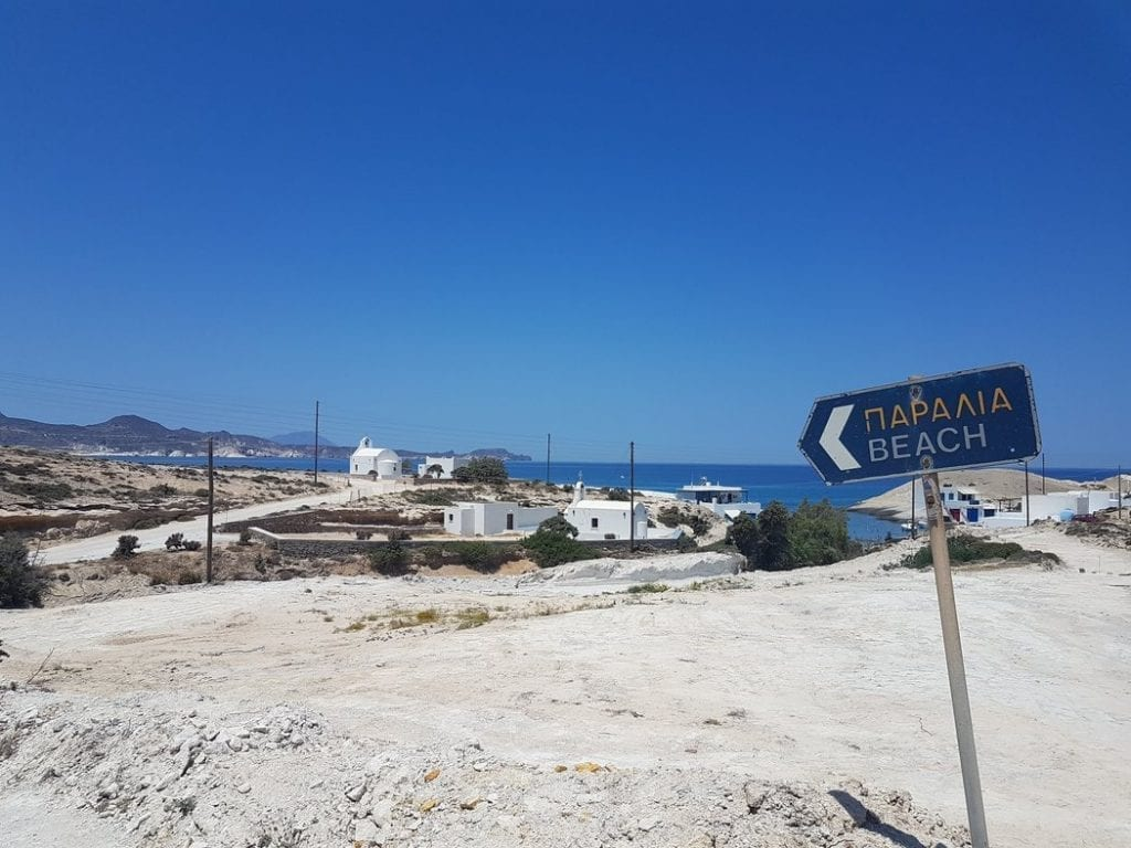 This way to the best beaches in Milos!