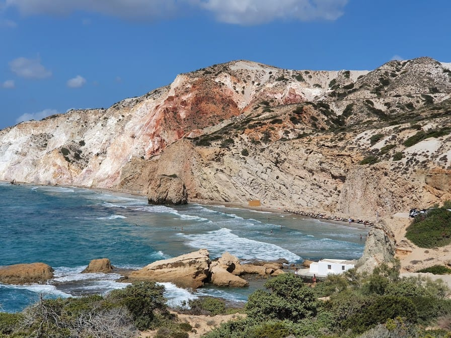 A view of Firiplaka beach in Milos