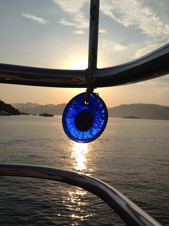 One of the interesting facts about Greece has to do with the eye charms you will see in many places. These are believed to ward off the evil eye.