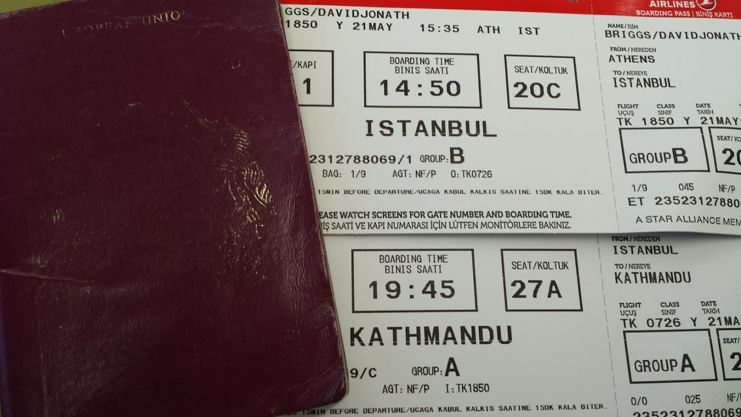Airline tickets to Nepal