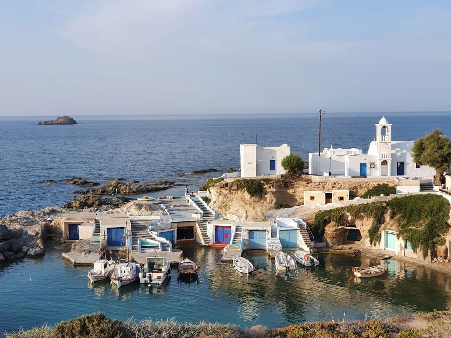 A picture of Mandrakia fishing village in Milos island Greece