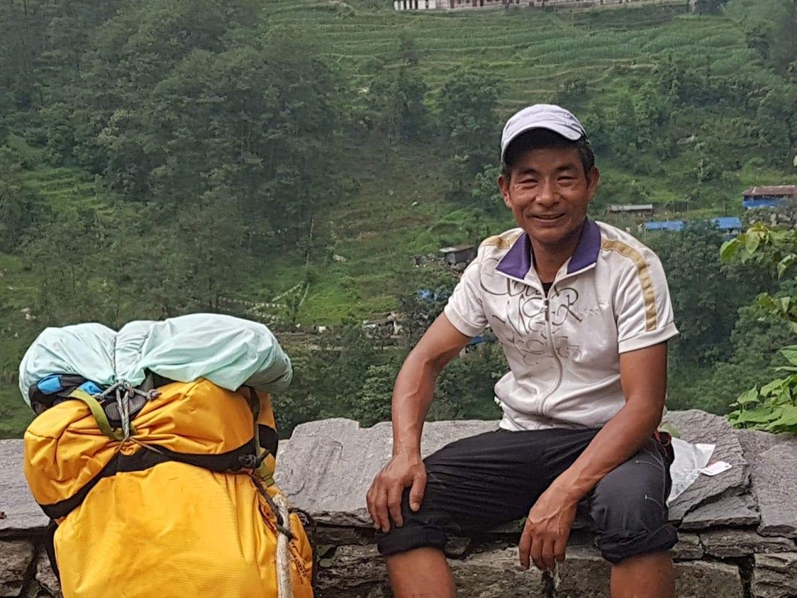 A porter in Nepal