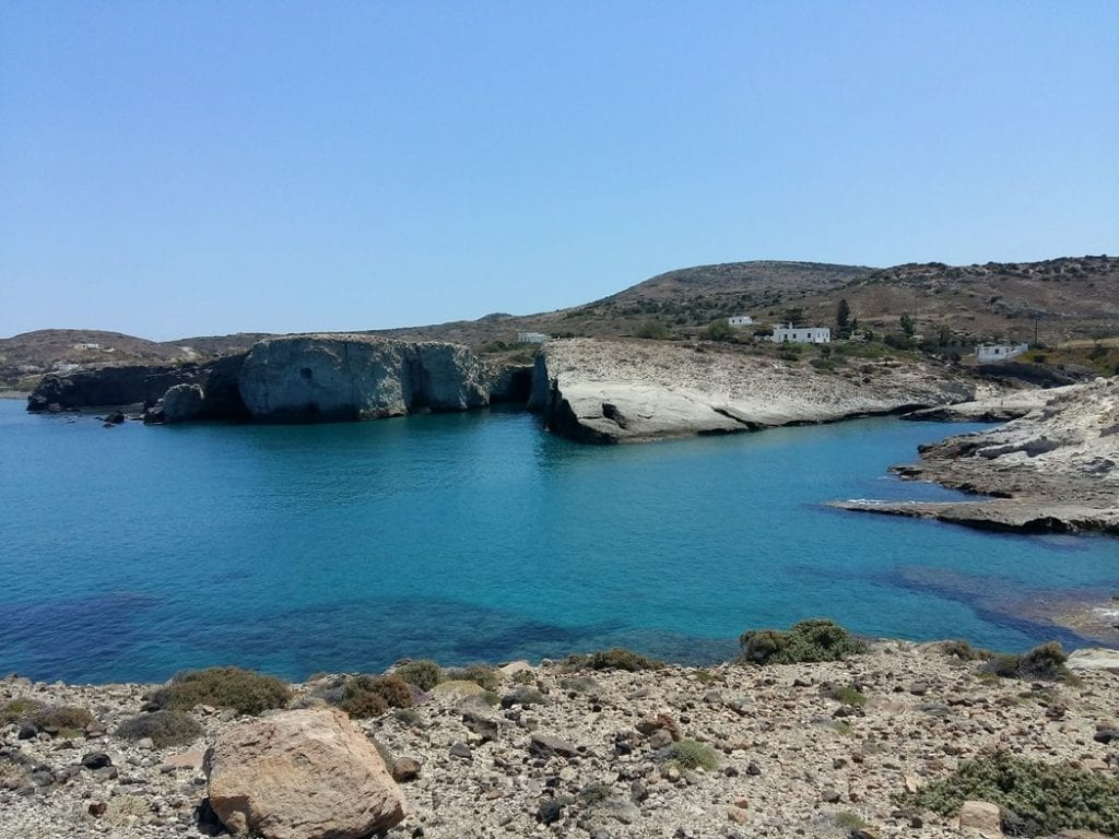 Pahena beach in Milos Greece