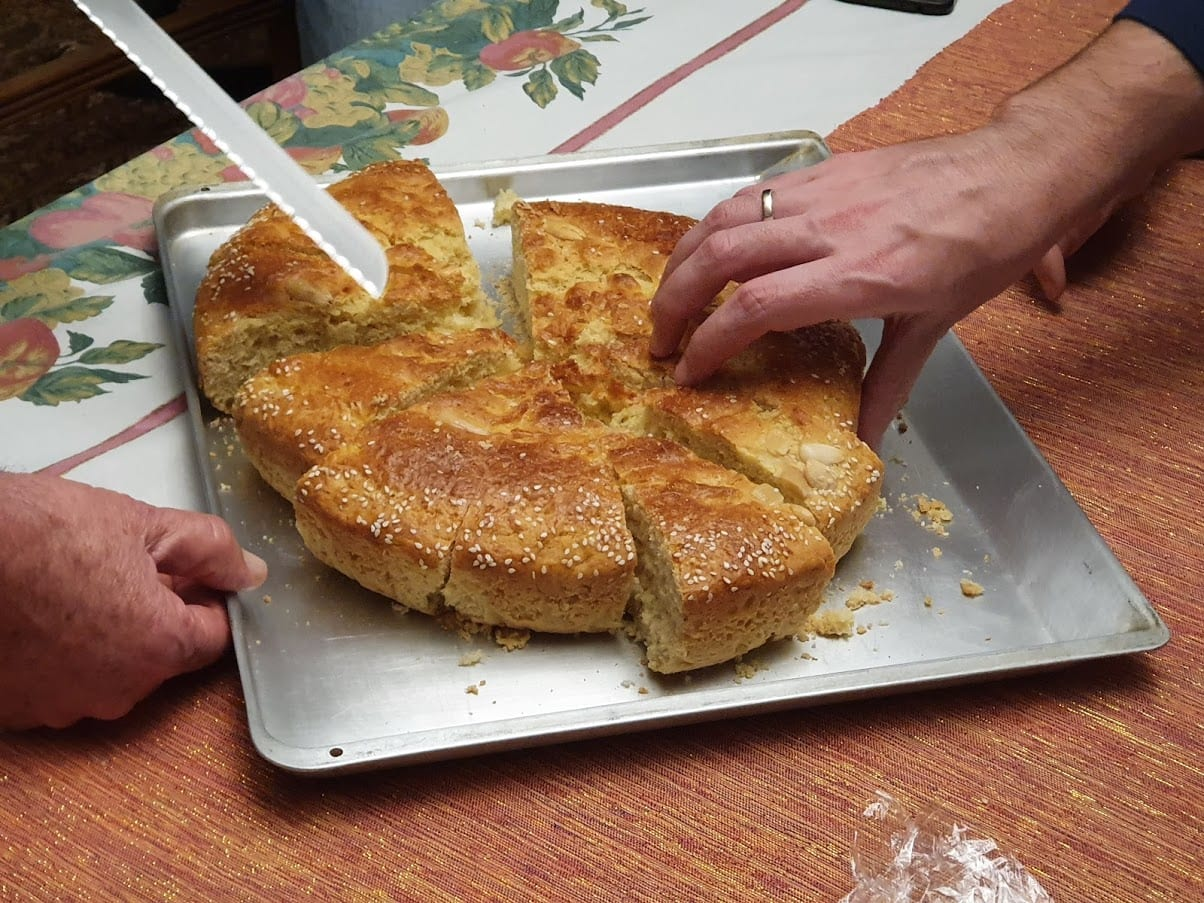 Cutting the Vasilopita is a Greek cultural tradition on New year's day