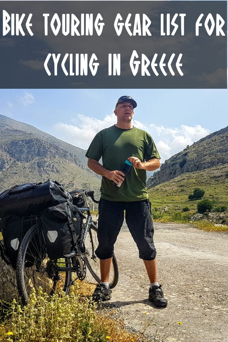 My bike touring gear list for cycling in Greece