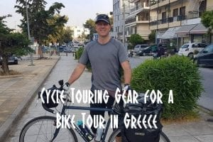 Cycle touring gear for a bike tour in Greece