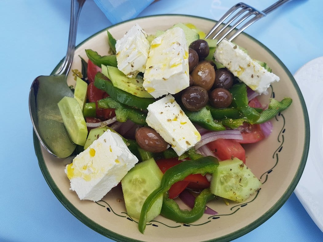 Try a Greek salad when you visit Athens for a day