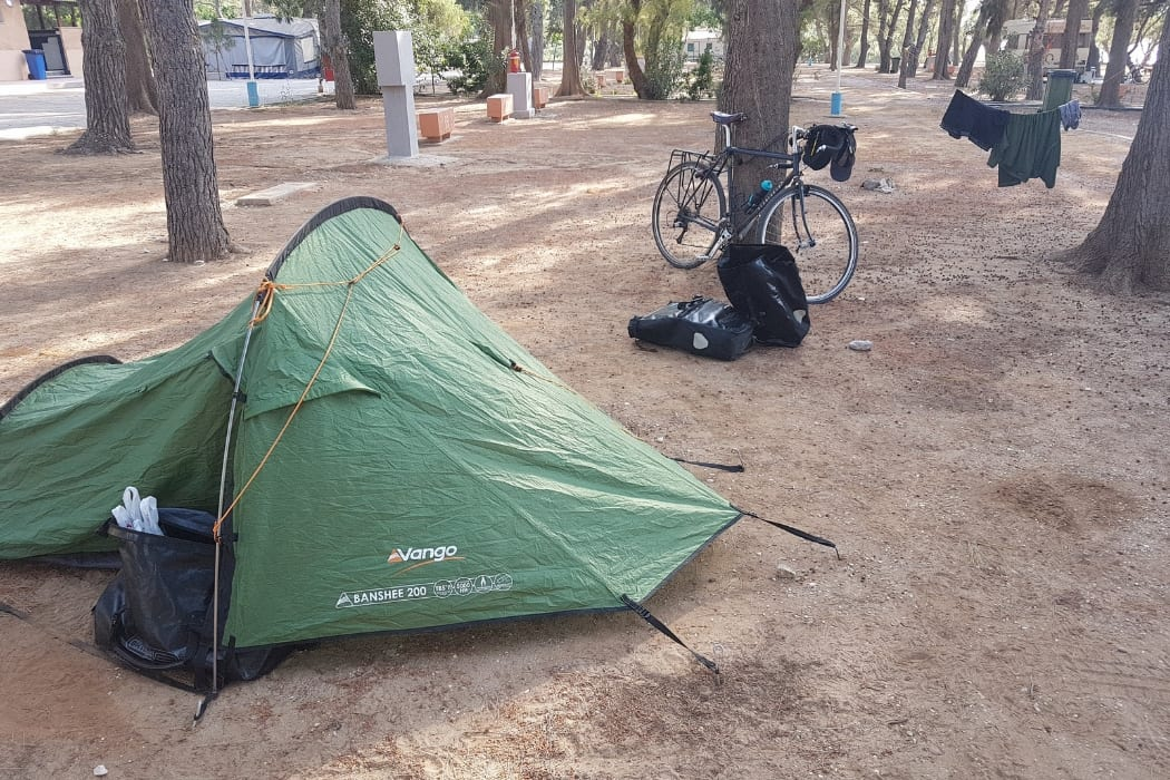 The Vango Banshee 200 tent is an essential part of my bike camping gear