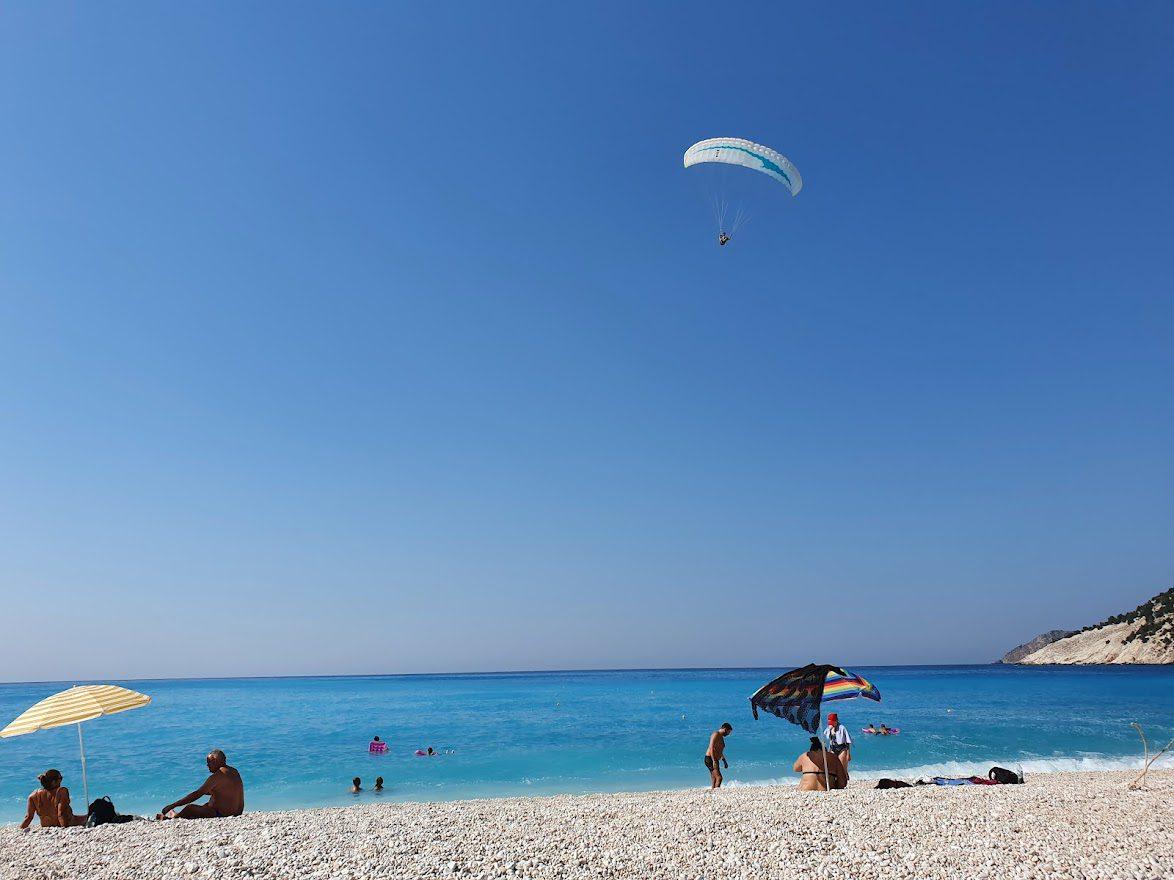 Myrtos Beach in Kefalonia in Greece