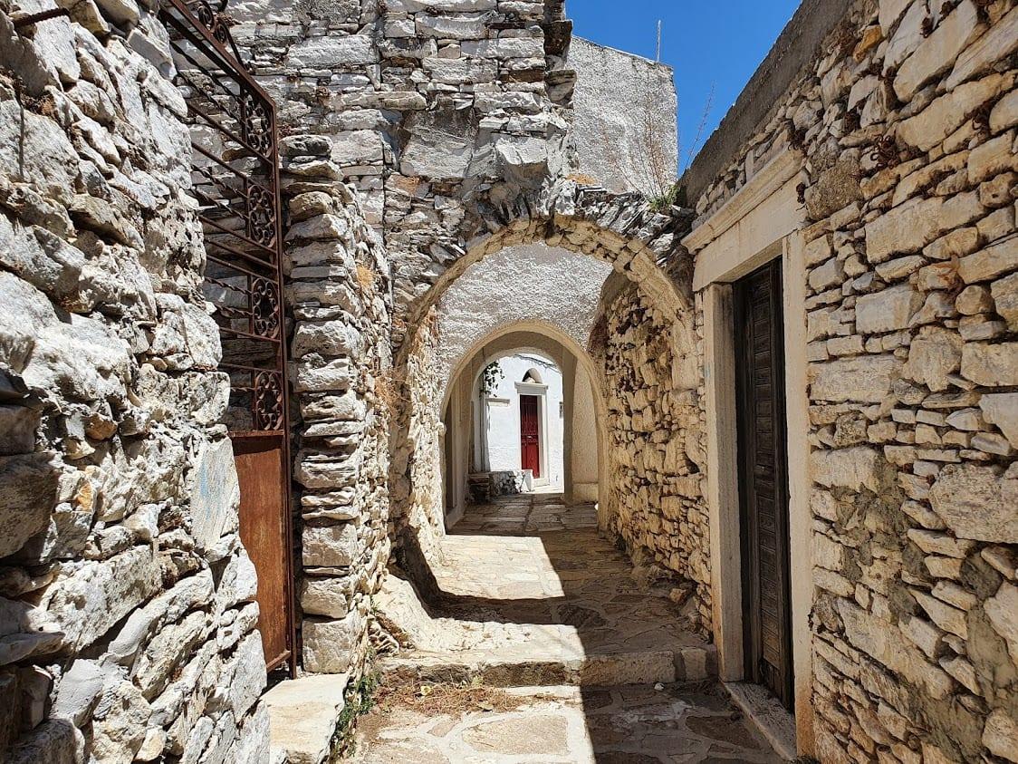 Apiranthos village in Naxos