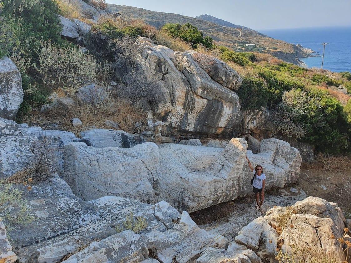 Apollonas statue in Naxos