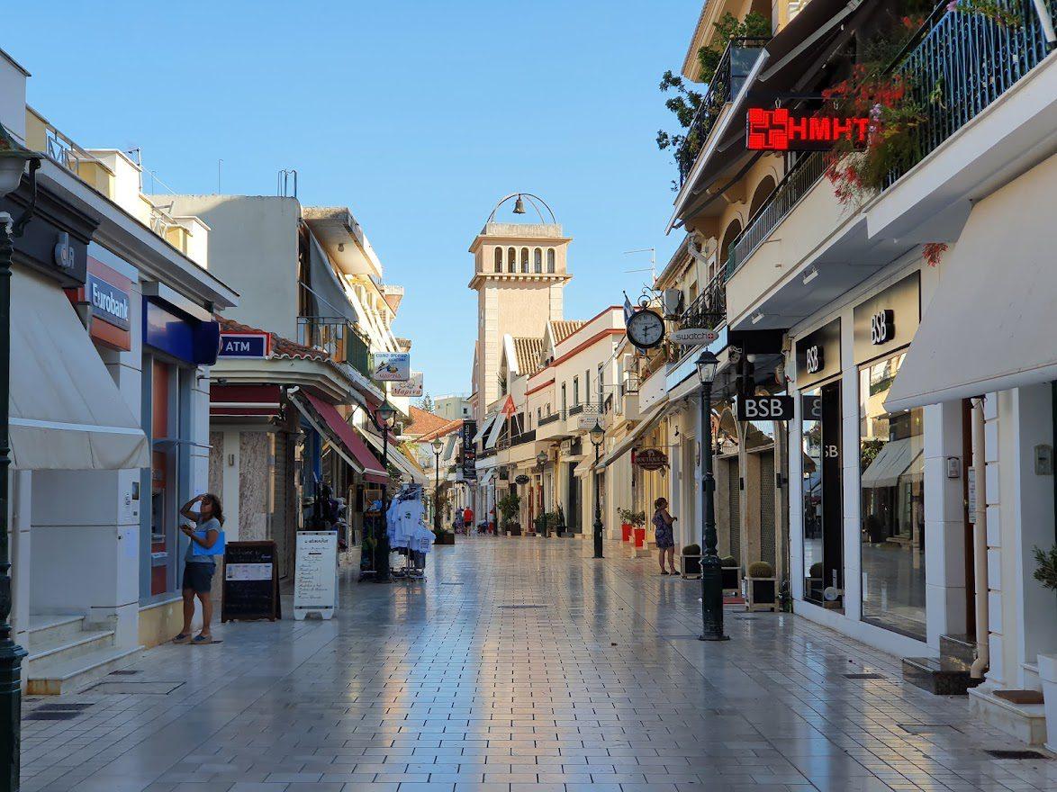 Argostoli pedestrianized street
