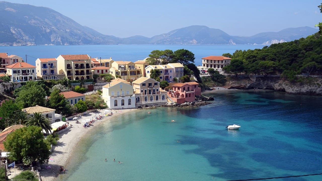 Assos Village in Kefalonia is a nice place to visit during a vacation in Kefalonia