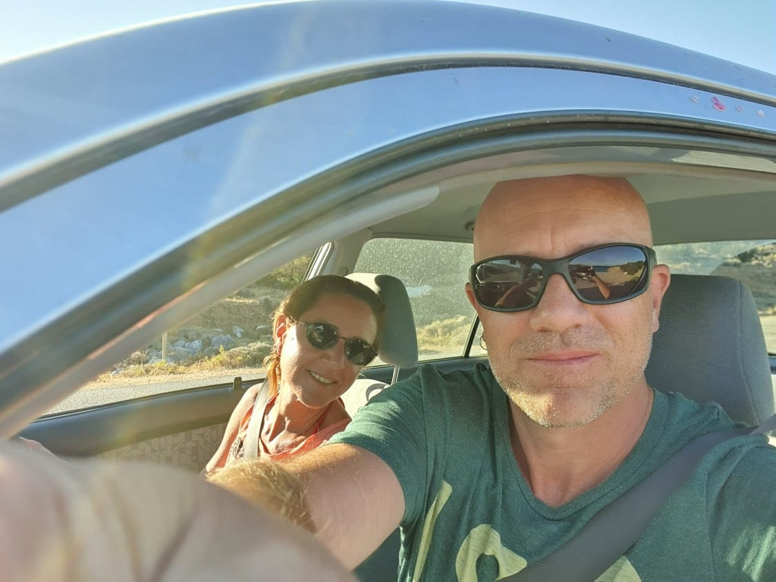 Dave Briggs driving around Naxos